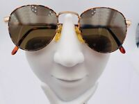 Vintage Guess Brown Orange Gold Metal Round Sunglasses Frames Korea