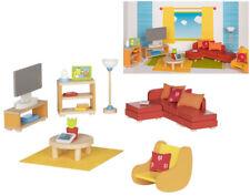 Puppenstuben & -häuser Puppenhausmöbel Puppenstube Möbel Wohnzimmer 24 Teile Gollnest Goki Neu