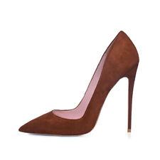 Womens Lady Sexy Suede Pointed Toe Stilettos High Slim Heels Pumps Shoes Big SZ