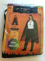 Vampire👺Count Dracula😱Reversible cape Halloween Costume ADULT Size Mens/womens