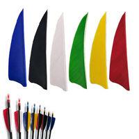 "50pcs 4"" Shield Cut Fletches Arrow Feathers Turkey Feather Arrow Accessories Bh"