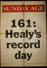 1996 Sunday Age 161 Healy's Record Day Newspaper Cricket Poster