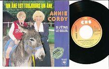"""ANNIE CORDY 45 TOURS 7"""" FRANCE SI J'ETAIS LE SOLEIL"""