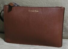 NWT CALVIN KLEIN Brown Leather iPad Case Sleeve Cover