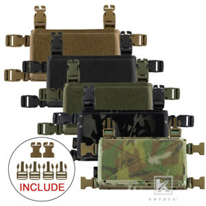 KRYDEX Tactical Placard Holder Micro Fight Chassis for Chest Rig Plate Carrier