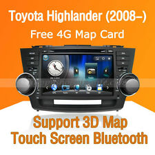 Car Stereo DVD Player GPS Navigation Bluetooth for Toyota Highlander 2008-2012