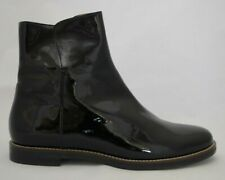 Maison Maertin Margiela Black Shiny Ankle Boots Flat Size 39 New Made In Italy