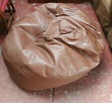 Brown Faux Leather large bean bag 140 x 126cm approximately