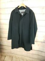 KENNETH COLE Mens M Black Overcoat Raincoat w Removable Lining