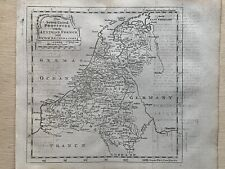 1760 Holland & Belgium Original Antique Map By Thomas Jeffreys 260 Years Old