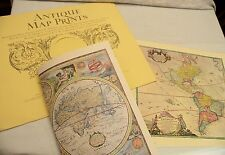 Vintage reproduction antique world maps atlases ebay antique map prints folio of 6 facsimile 16 x 20 reproduced from original gumiabroncs Images