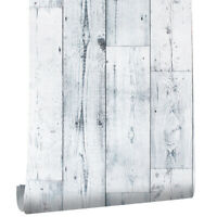 6M White Wood Grain Contact Paper Self Adhesive Wallpaper Peel and Stick Film
