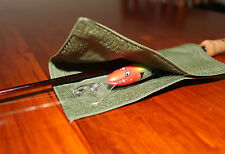 Lure  Fishing Wrap Cover. M/L Australian made with Australian Canvas. Barra