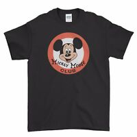 Retro Mickey Mouse Club Cartoon Art Cool Boys Men T Shirt Top Tee