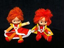 """Vintage 1983 RED BUTLER & LALA ORANGE 12"""" DOLLS Rainbow Brite Mattel Hallmark A3"""