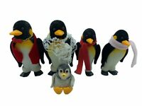Calico Critters Sylvanian Families Deburg Penguin Family of 5 Flair RETIRED MINT