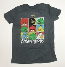 Angry Birds - Men's Large Charcoal Grey Heather T-Shirt Graphic Tee