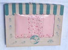 Vintage ROSEBUD BABY CRIB BLANKET 34x46 in Original Box - ESTATE FRESH pink