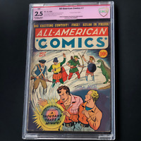 ALL-AMERICAN COMICS #7 (DC 1939) 💥 2.5 OW-W CBCS 💥 SIGNED STAN ASCH
