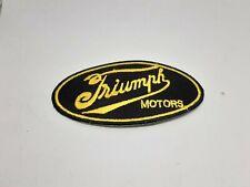 patch ecusson thermocollant brodé  triumph vintage L 8cm H 4cm