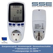2er SET Energieverbrauch-Messgerät Energiemonitor XXL Display Stromkosten