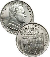 Monaco 1 Franc 1960-1989 KM#140 Rainier III XF SUP (25) choose your coin