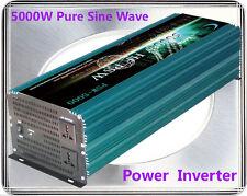 US Stock~10000W Max 5000W Pure Sine Wave Power Inverter 12VDC/110VAC Power Tools