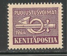 Finland #M7 (M2) Vf Mint Lh - 1944 3m Post Horn and Sword