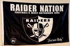 Oakland Raiders Flag 3X5ft Raider Nation Blackhole banner Us Shipper