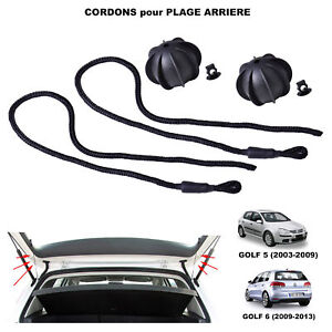 2X Cordelete Cordon Plage Arriere VW Golf 5 / 6 idem 1K6863447A 1K6 863 447A