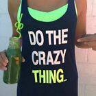 **NEW**LORNA JANE**black crazy thing tank top - sz XS, S, M, L