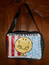 "sac bandoulière reporter MONSIEUR MADAME ""Mr happy USA"" - neuf"
