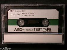 ABEX Speed & Flutter Test Tape TCC-114 3.15kHz, Mint