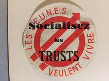 images et symboles du Parti Socialiste  SFIO Jeunesses Socialistes Trusts 1945