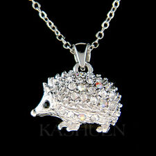 w Swarovski Crystal Hedgehog Hedgy Porcupine Animal Erinaceidae Jewelry Necklace
