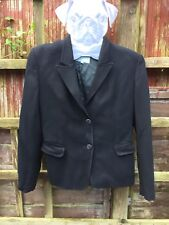 Ladies Black Suit Jacket. Blazer By JIGSAW. Size 12
