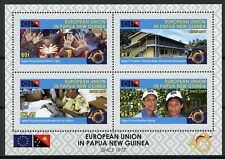 Papua New Guinea PNG 2018 MNH EU European Union 4v M/S Flags Cultures Stamps