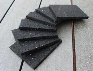 XXL Rutschstopper Pad 100x100x8mm Lärmstopper Anschlagdämpfer Anschlagpuffer