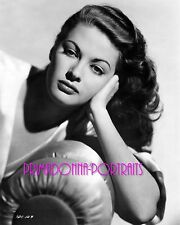 YVONNE DE CARLO 8X10 Lab Photo B&W '40s GLAMOUR YOUNG PORTRAIT