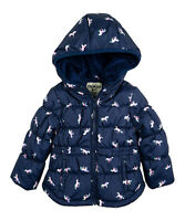 OshKosh B'gosh Infant Girls Navy Unicorns Puffer Coat Size 24 Months NWT