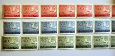 1956 Melbourne Olympics Sweden Original Gummed Stamp in strips of 6 MNH