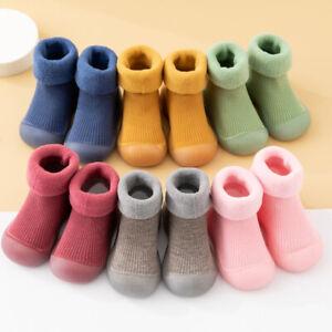 Baby Boys Girls Slipper Socks Kids Winter Toddler Anti-slip Sock Floor Shoes New
