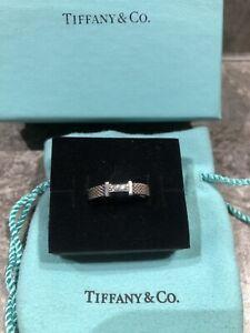 Authentic Tiffany Co Narrow Somerset Diamond Ring