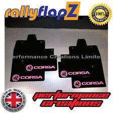 Rallyflapz per adattarsi VAUXHALL CORSA C (00-07) ANTIBECCHEGGIO NERO LOGO Baby Rosa 3mm PVC