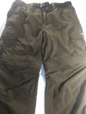 Gander Mountain Convertible Cargo Outdoor Pants with Belt, RN85856 Men's S 30