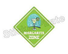 "*Aluminum* Margarita Zone Funny Metal Novelty Sign 12""x12"""