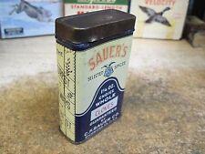 SPICE TIN CLOVES SAUER'S CO RICHMOND VA CAN STORE EMPTY JMJ original mid 1900's