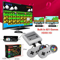 621 Games in 1 Mini SFC Classic TV Game Console For NES Retro HDMI /AV Gamepads