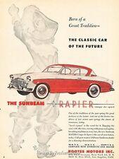 1956 Sunbeam Rapier Original Advertisement Print Art Car Ad J653