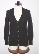 J CREW 100% Italian Cashmere Black Boyfriend Cardigan Sweater S